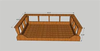 bed swing woodworking plans