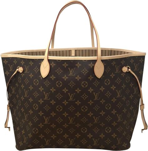 louis vuitton neverfull gm monogram coated canvas tote tradesy