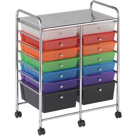 coloured storage drawers 14 drawer mobile organizer walmart