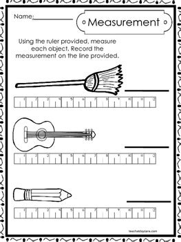 Each lesson has a whole group measurement activity and a small group measurement activity. 10 Printable Measuring With A Ruler Worksheets ...