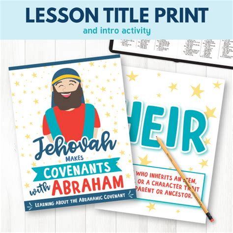 Primary 6 Lesson 9 Jehovah Makes Covenants With Abraham  The Red Headed Hostess