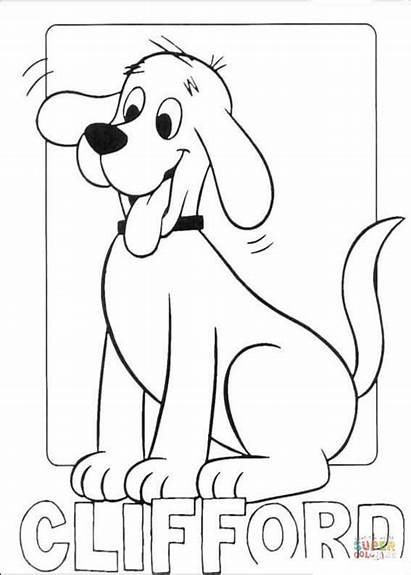 Coloring Clifford Pages Silhouettes Printable Drawing Dot