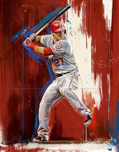 Trout Mike Baseball Angels Behance Wallpapers Robert