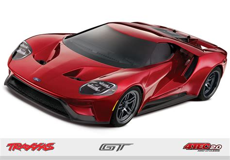 traxxas  scale ford gt data electric car  stop