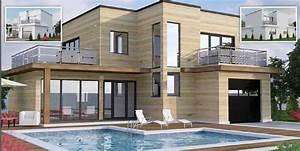 Plan de maisons modernes 11 maison moderne toit plat for Site de plan de maison 11 terrasse