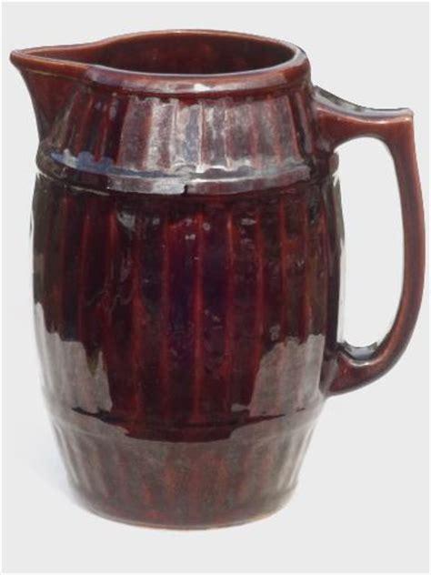 Primitive Stoneware Pitcher Mccoy Pottery Old Oaken