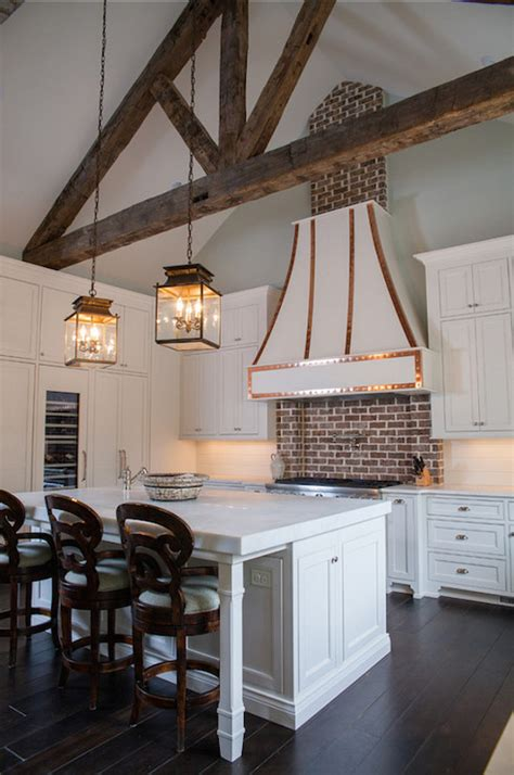 kitchen  truss ceiling transitional kitchen