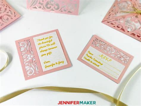 thank you card template maker diy wedding invitation templates free quot laser cut quot set