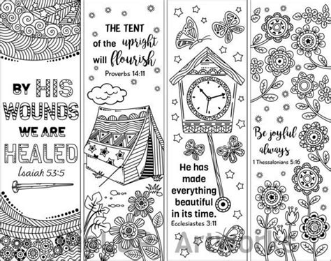 printable bible verse coloring bookmarks coloring