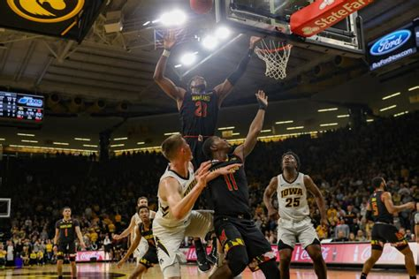 iowa mens basketball maryland daily iowan