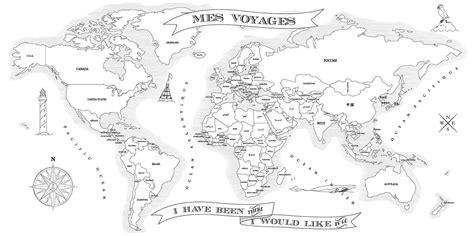 Dessin Carte Du Monde A Imprimer by Coloriez Vos Voyages 171 D 233 La Vie