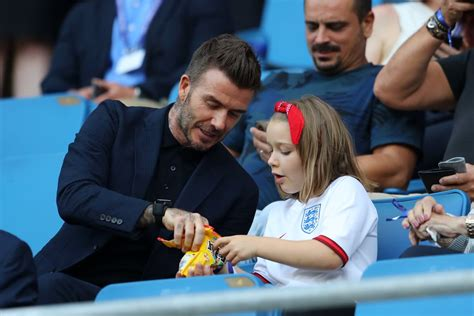 David Beckham and Harper at World Cup Pictures June 2019 ...