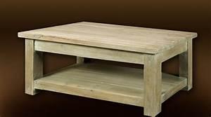 Table Basse Rustique : table de salon bois massif table basse tabouret maisonjoffrois ~ Teatrodelosmanantiales.com Idées de Décoration