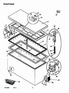 Amana Ac70kw  P1317801w Chest Freezer Parts