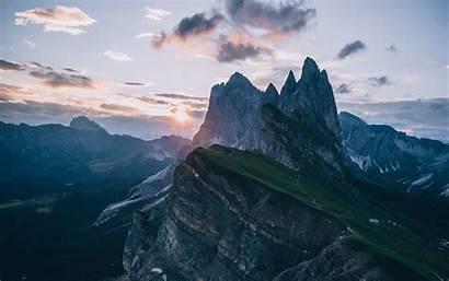 Mountains Alps Peaks Landscape 4k Background Sky