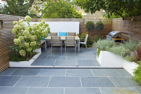 contemporary small garden ideas contemporary small family garden designers in clapham sw4 slate paving by garden builders london