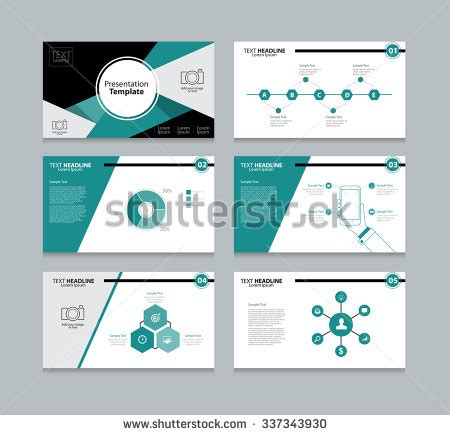 graphic design presentation abstract vector business presentation template slides