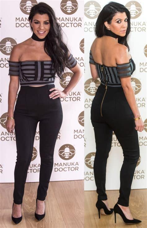Kourtney Kardashian in Gianvito Rossi Pointy-Toe Pumps