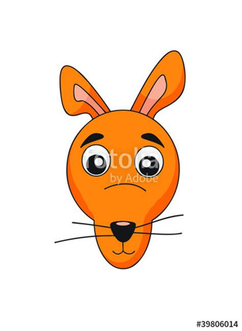 face clipart kangaroo pencil   color face clipart
