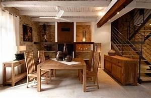 table repas teck jepara avec rallonges table salle a With salle a manger en teck