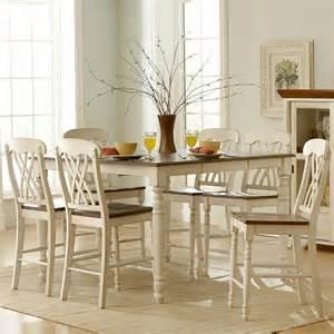 overstockcom white dining set homelegance ohana 7 square counter height set