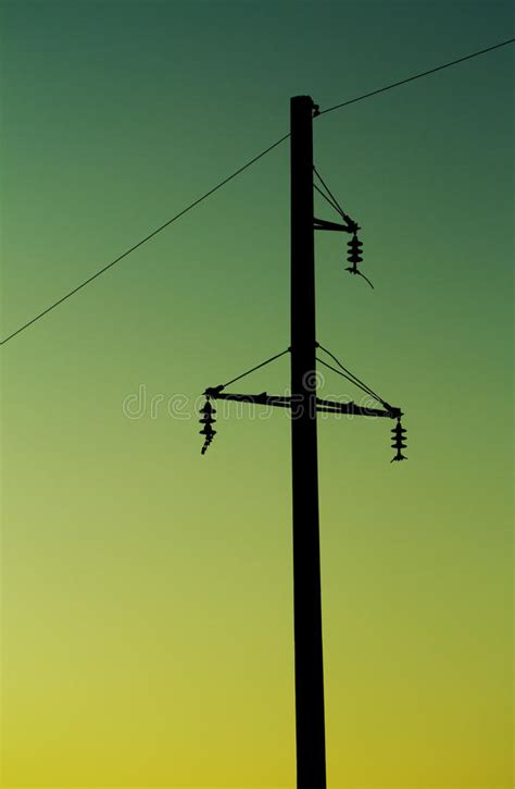 Electric post stock image. Image of construction, back ...