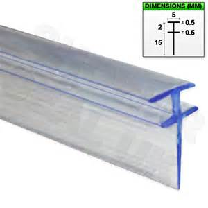 Replace Shower Screen Glass by Shower Seal For Bi Fold Channel Profile Folding Glass Door