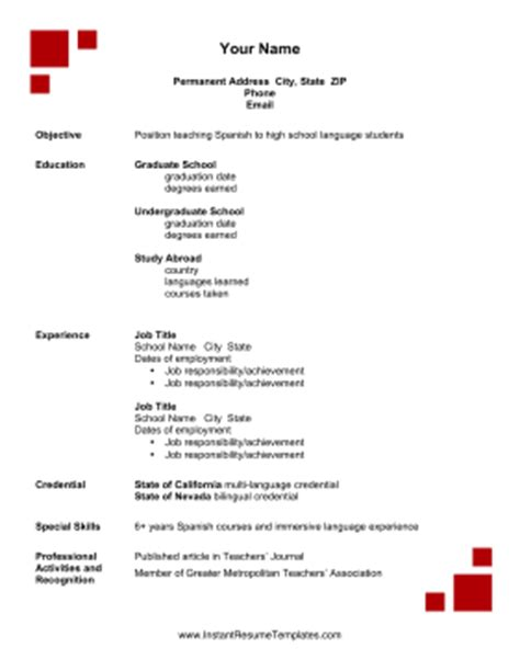 study abroad resume template