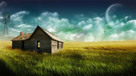 Farm House-full Hd-1080p-wallpaper-fantasy Sky