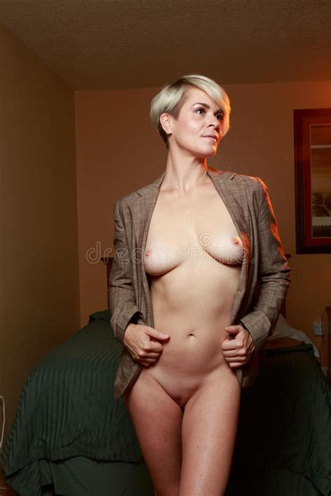 Nude Blonde Woman In Hotel Stock Image Image Of Erotic