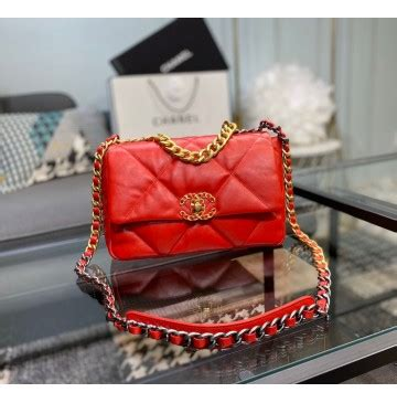 chanel  small flap bag  red luxtime dfo handbags
