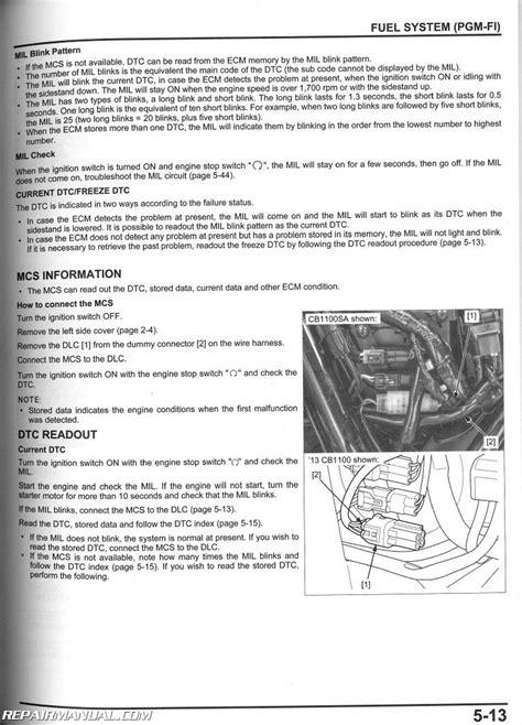 2013 - 2017 Honda CB1100 A Motorcycle Service Manual