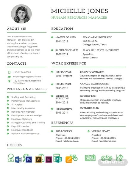 Pro Resume Template by Free Professional Hr Resume Template Word Psd