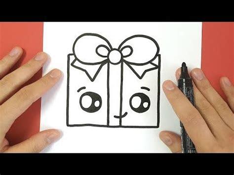 comment dessiner  cadeau de noel kawaii youtube