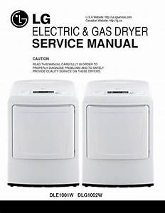 Lg Dle1001w Dlg1002w Dryer Service Manual And Technical