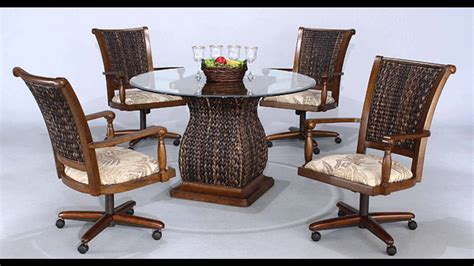 Lovely Kitchen Table Sets With Rolling Chairs Kitchen