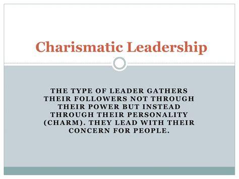 charismatic leadership powerpoint