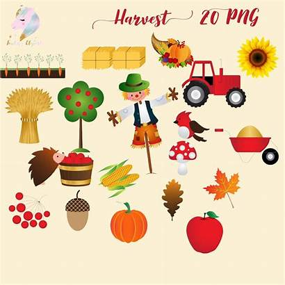 Thanksgiving Harvest Clipart Clip Autumn Graphics Fall