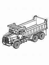 Coloring Truck Dump Printable Disimpan Dari Printables Trucks sketch template