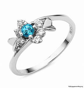 engagement wedding rings With wedding rings with blue