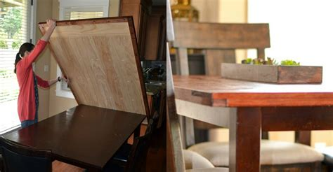 remodelaholic   build  removable planked table top