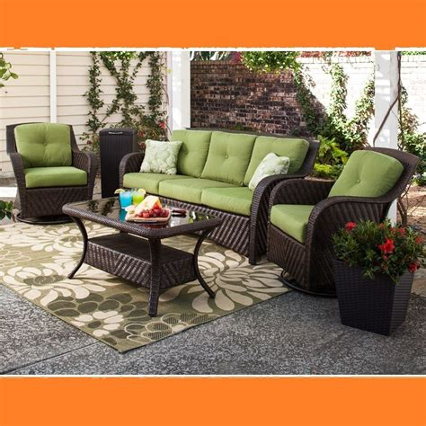 Outdoor Patio Seating by Outdoor Patio Wicker Seating Furniture Set 4 Pc Sofa