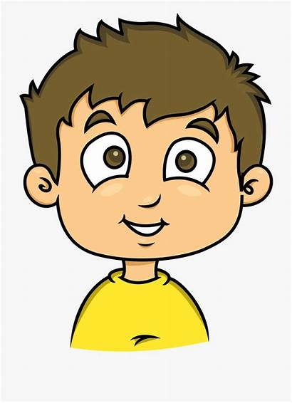 Face Clipart Boy Happy Animated Head Human