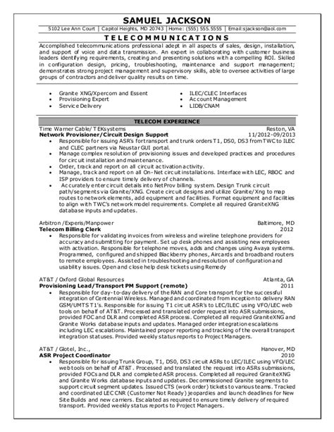 20743 exles or resumes sle resume telecom