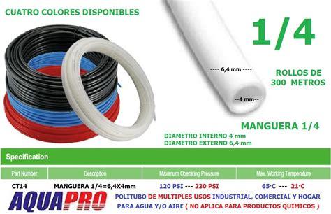 manguera neumatica sistemas aire agua polietileno