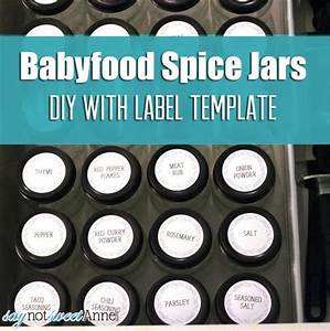 baby food diy spice jars sweet anne designs With baby food jar label template