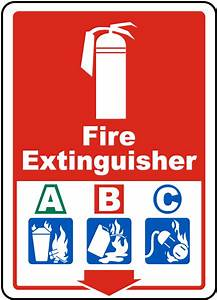 Fire Extinguisher ABC Sign by SafetySign.com - A5318