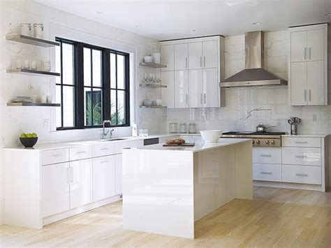 Modern Kitchen Features White Lacquered Cabinets Paired. Small Kitchen Island Images. Small Kitchen Room Ideas. Free Standing Island Kitchen. Delta White Kitchen Faucet. Kitchen Decorating Ideas On A Budget. White Kitchen Canister. Kitchen Hardware Ideas. Off White Kitchen