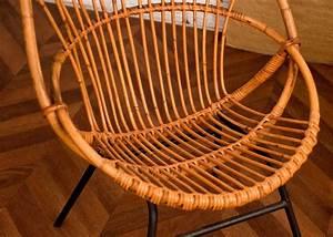 Chaise En Rotin : vintage rattan chair 50s 1950 vintage rattan chairs design 50 ~ Preciouscoupons.com Idées de Décoration