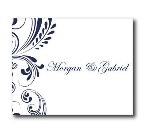 thank you card template in word wedding thank you card template navy wedding editable